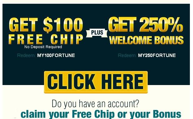 free chip no deposit casino bonus codes