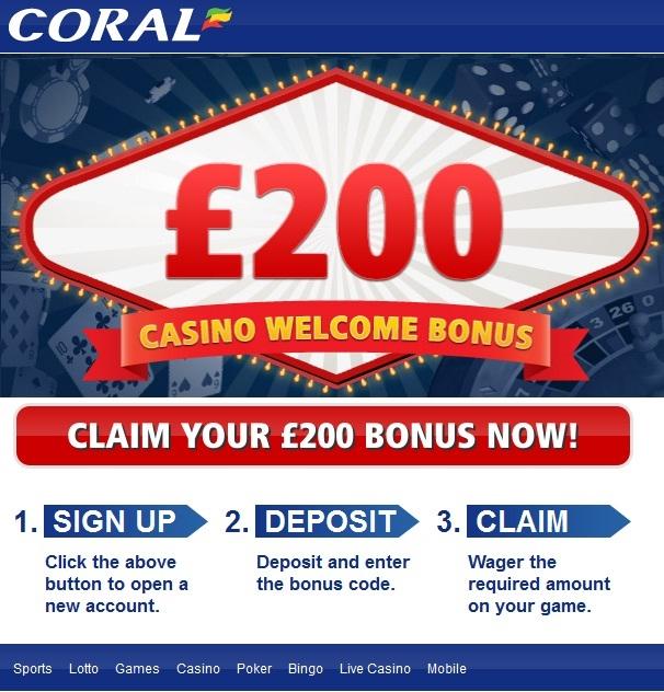 Coral casino no deposit bonus code suncoast casino cafe vacca matta