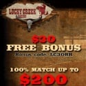 Lucky Creek Casino No deposit bonus