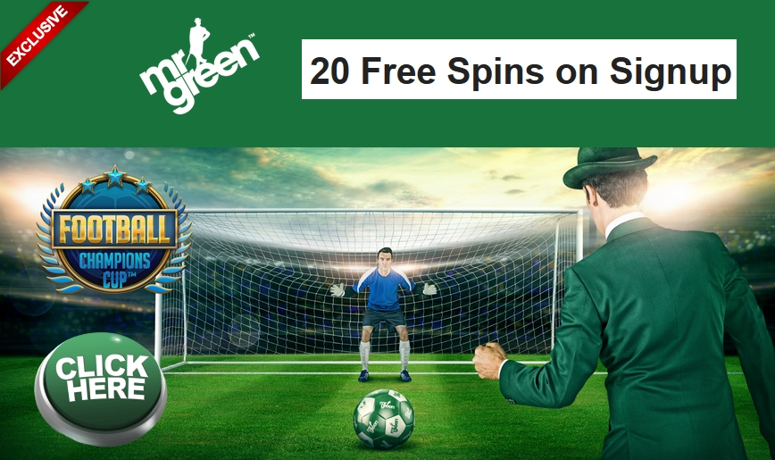 mr green casino free spins no deposit