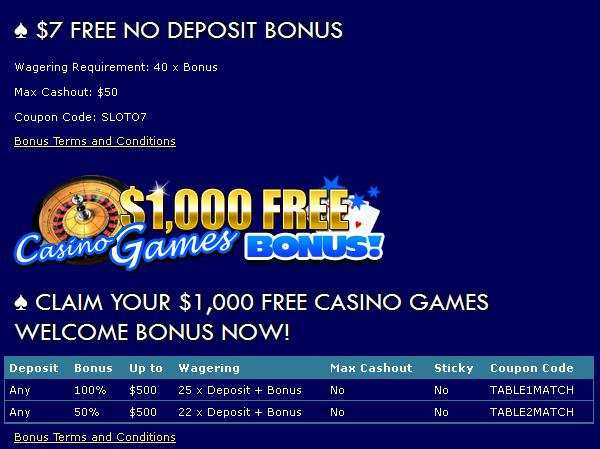 no deposit required bonus casino