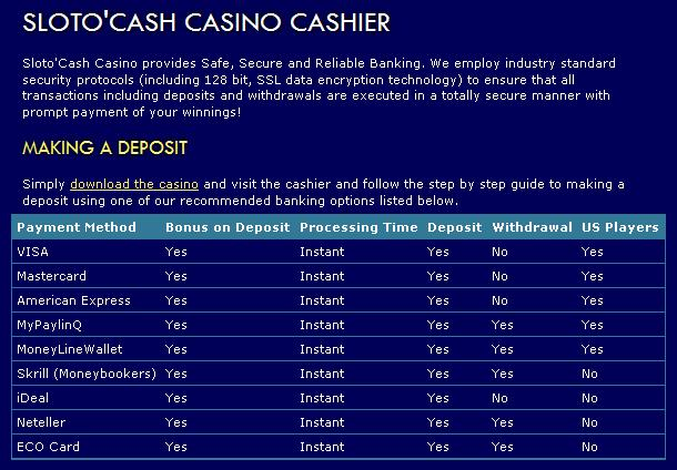 instant coupon no deposit casino