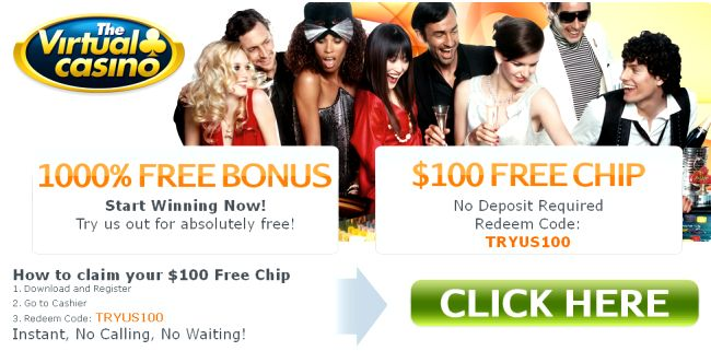 Virtual casino bonus codes 2019